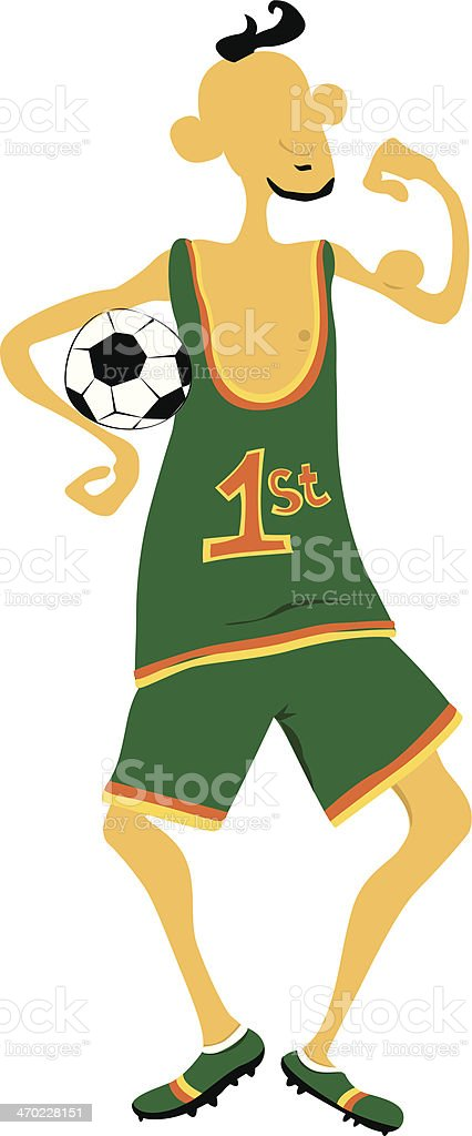 Funny football player royalty-free stock vector art