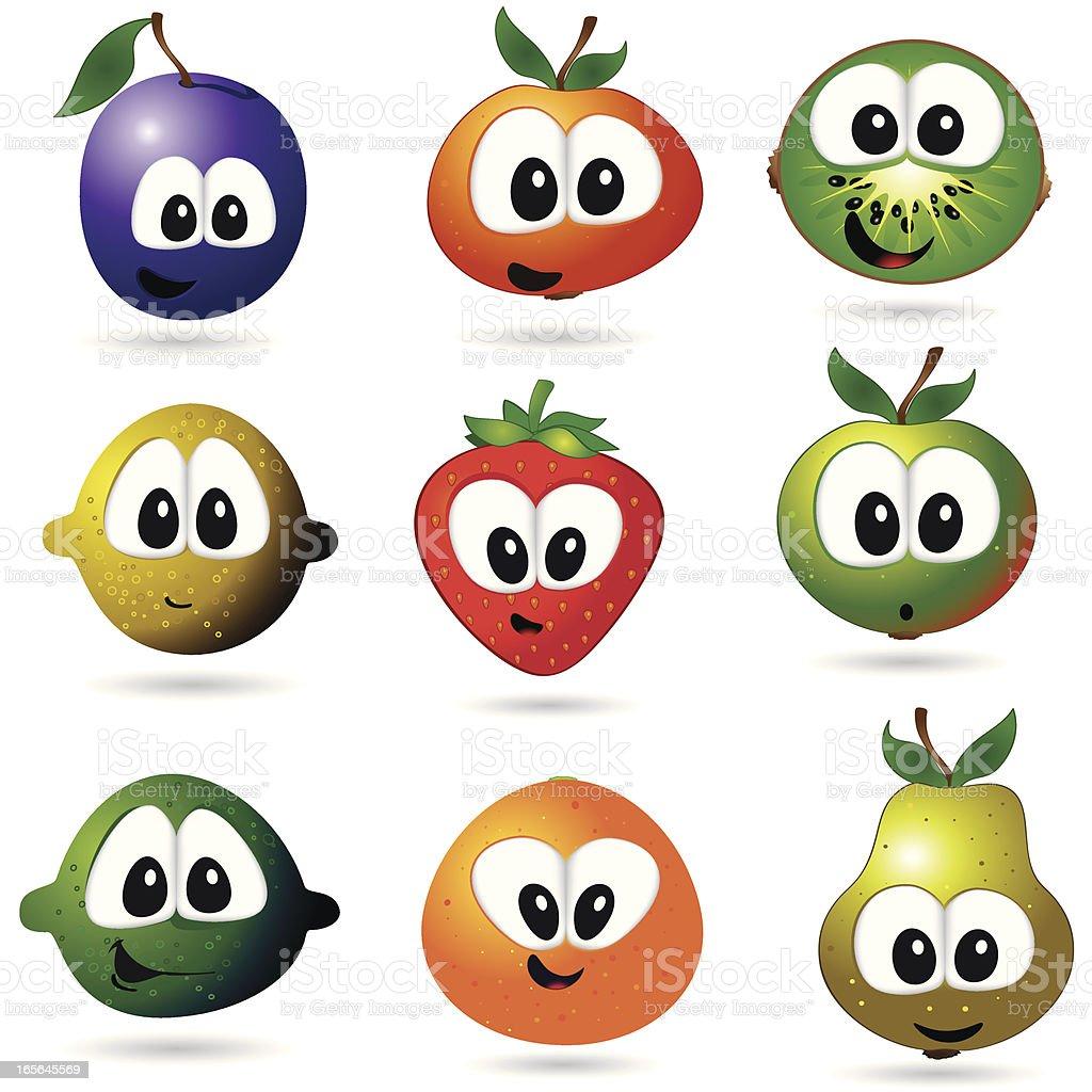 funny fruits royalty-free stock vector art