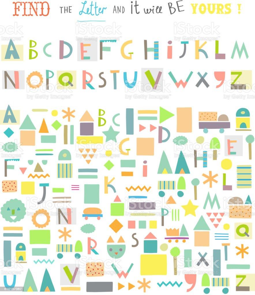 divertidos juegos para nios linda alfabeto aislados vector libre de derechos libre