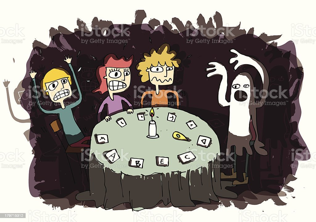 Funny Ghost Cartoon royalty-free stock vector art