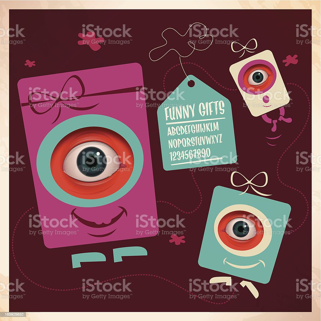 funny gifts royalty-free stock vector art