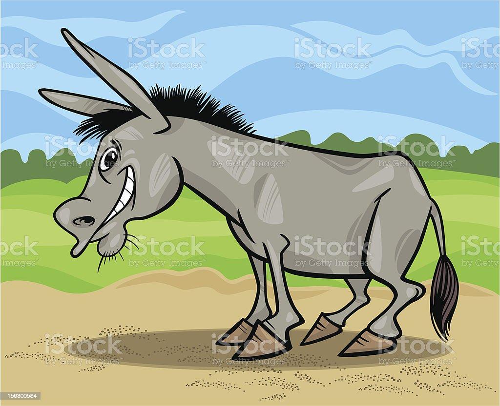 funny gray donkey cartoon illustration royalty-free stock vector art