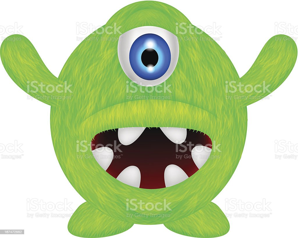 funny green monster royalty-free stock vector art