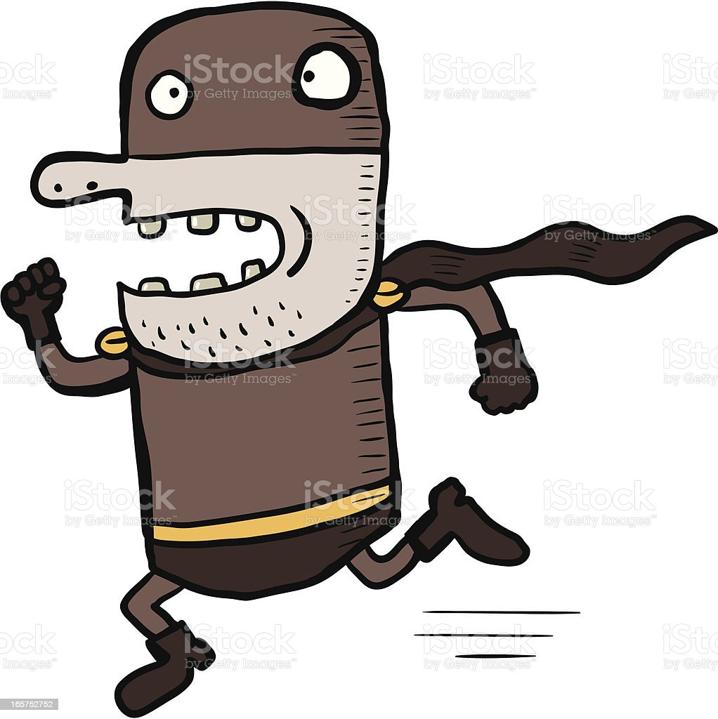 Funny Hero is coming royalty-free stock vector art