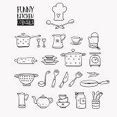 Funny kitchen utensils set