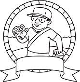 funny lifeguard coloring book emblem