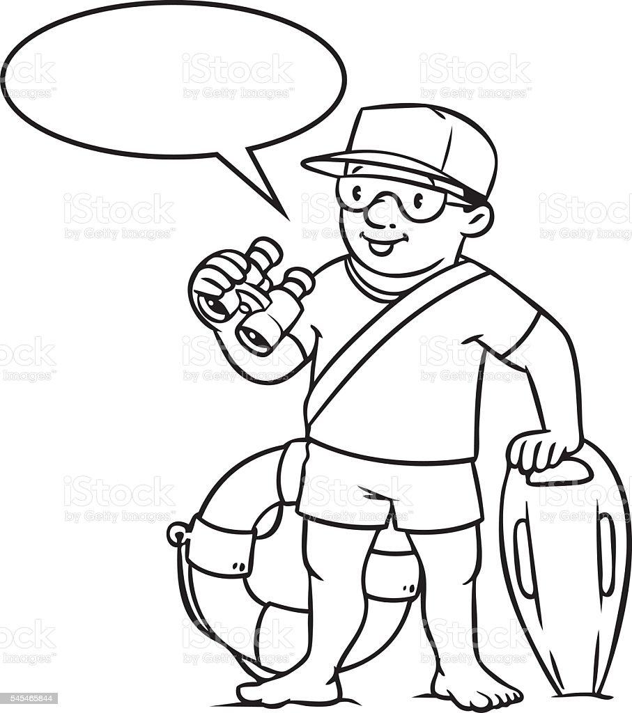 funny lifeguard coloring book royalty free stock vector art