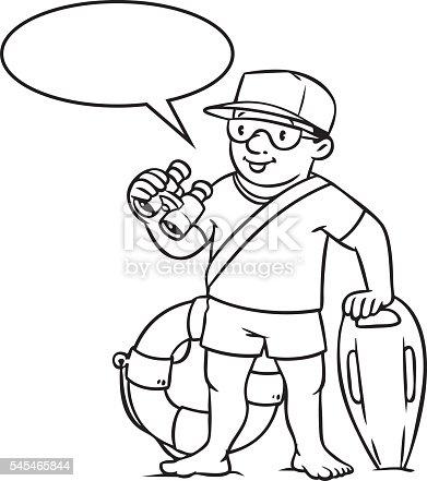funny lifeguard coloring book stock vector art 545465844 istock