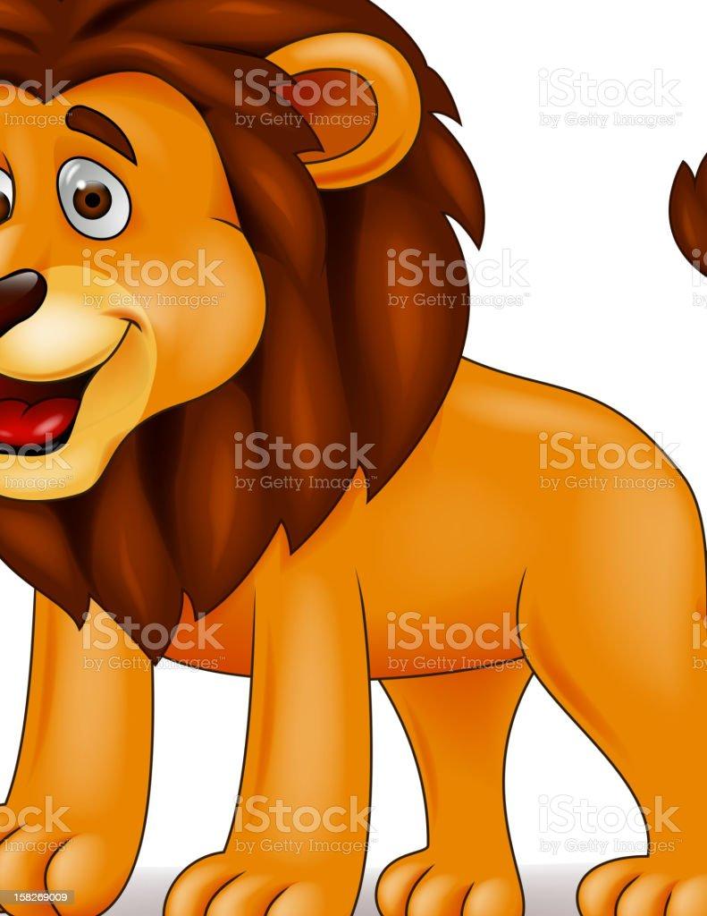 Funny lion cartoon royalty-free stock vector art