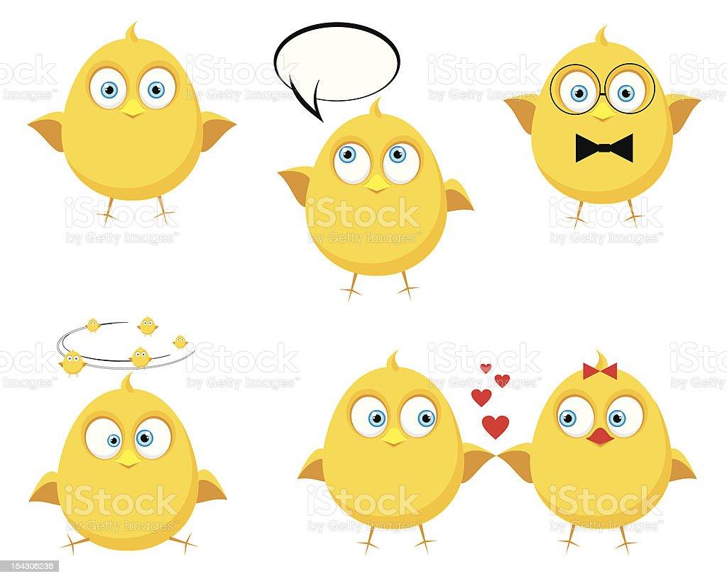 funny little bird vector art illustration