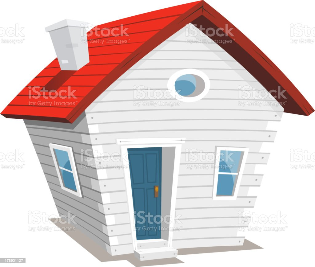 Funny Little House royalty-free stock vector art