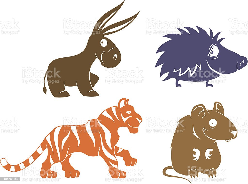 Funny mammals royalty-free stock vector art