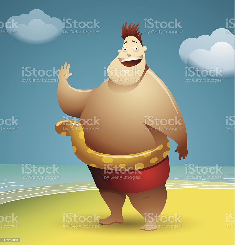 Funny man of the sea royalty-free stock vector art