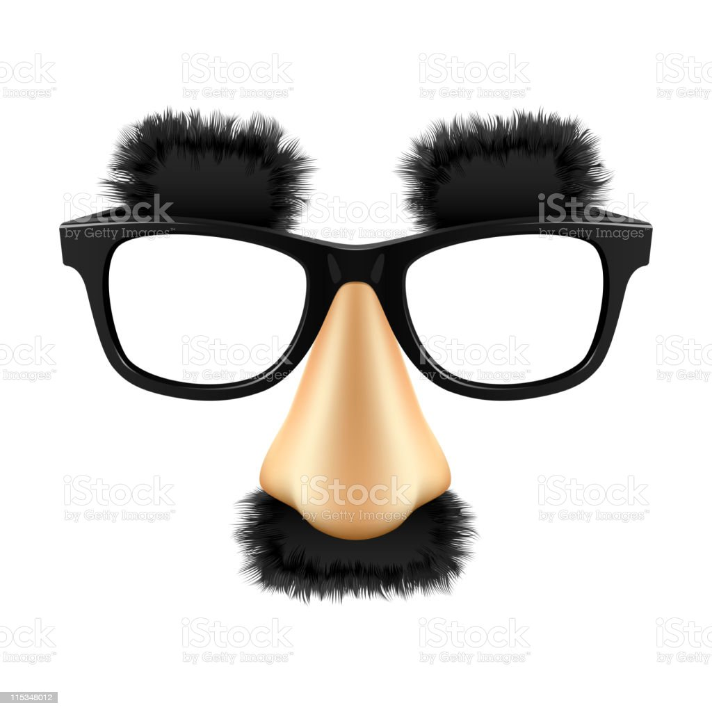 Funny mask. Vector. vector art illustration