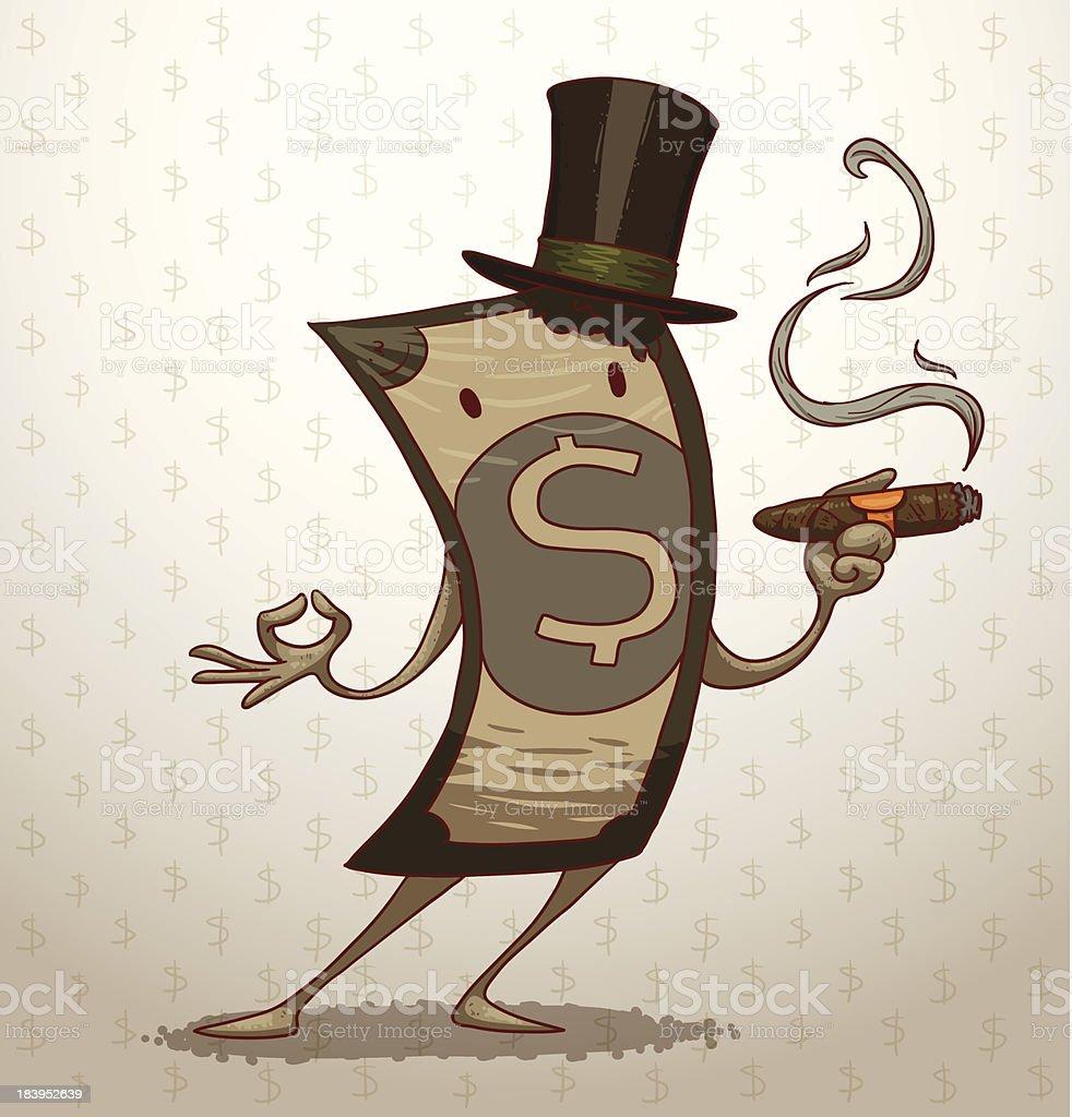 Funny money banknote royalty-free stock vector art