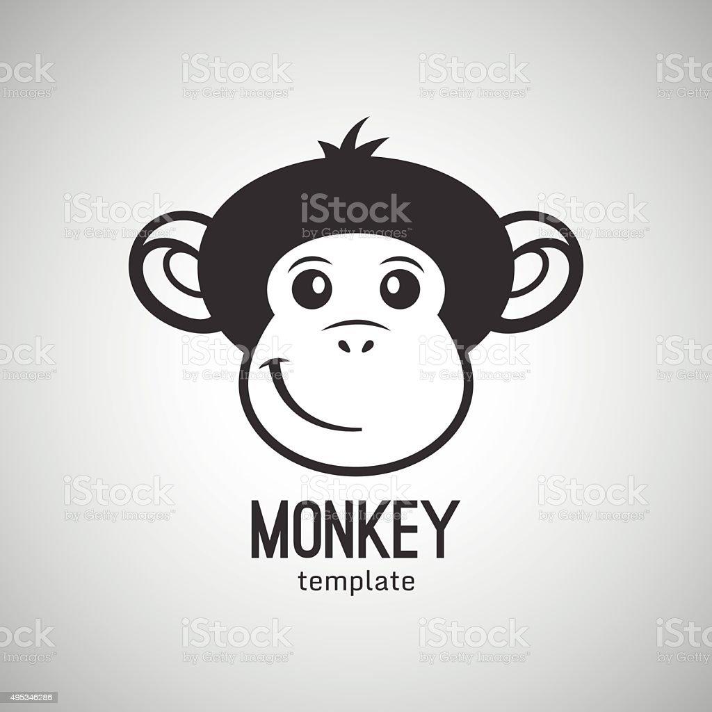 Funny monkey face, New Year 2016, vector illustration vector art illustration