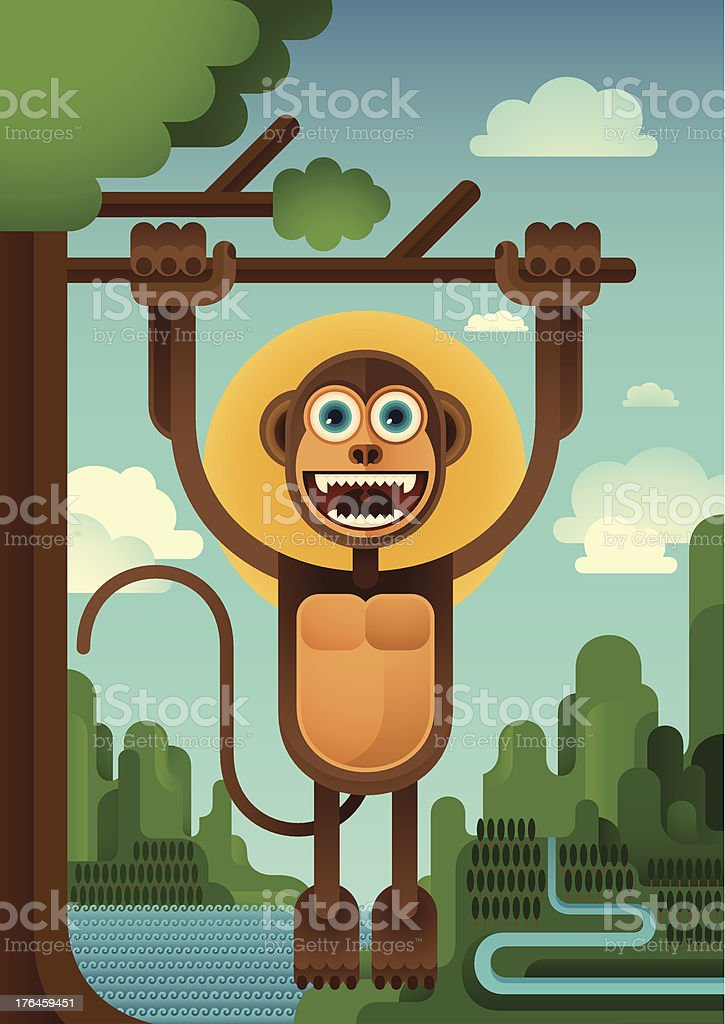 Funny monkey. royalty-free stock vector art