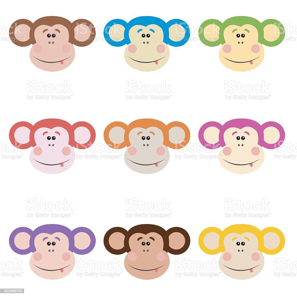 funny monkey vector art illustration