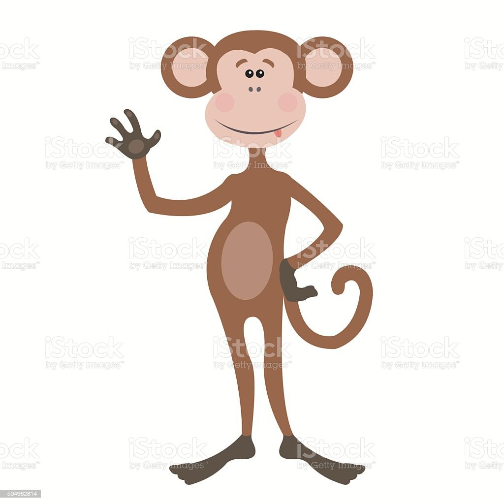 funny monkey royalty-free stock vector art