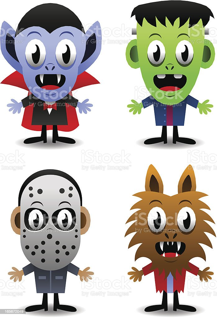 Funny Monsters royalty-free stock vector art