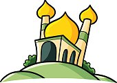 Funny mosque - vector.