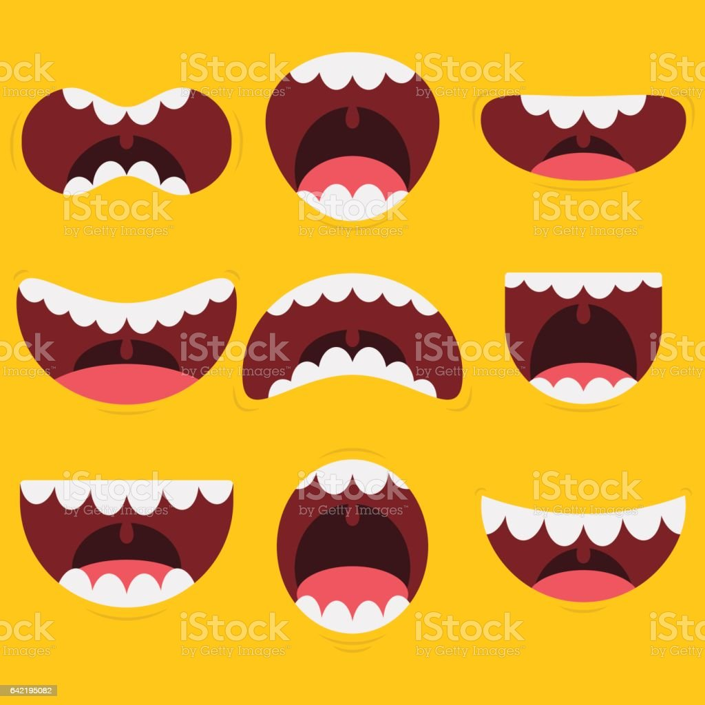 Funny Mouth Collection vector art illustration