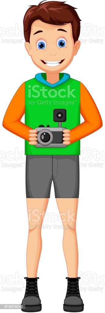 funny photographers cartoon vector art illustration