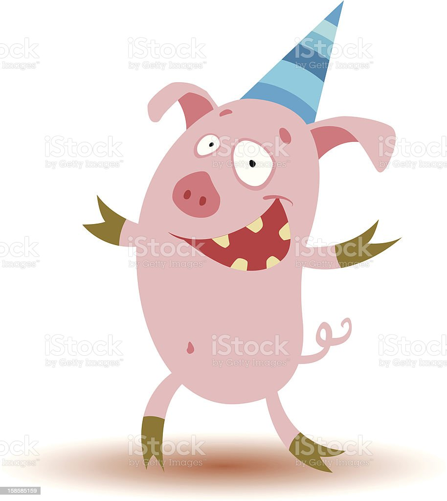 Funny pig royalty-free stock vector art