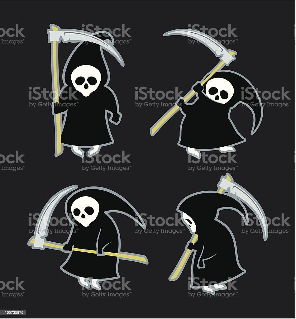 Funny reapers royalty-free stock vector art