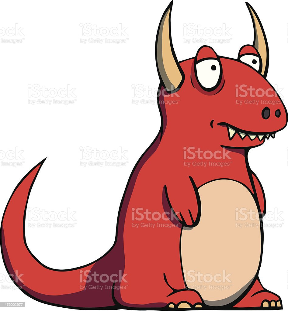 Funny red monster. Vector illustration royalty-free stock vector art