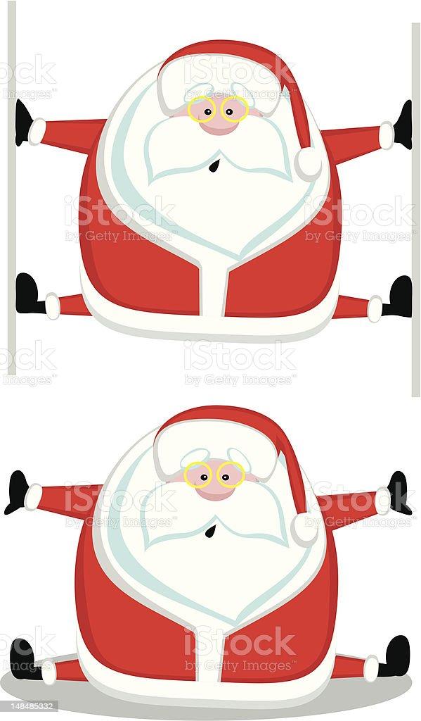 Funny santa royalty-free stock vector art