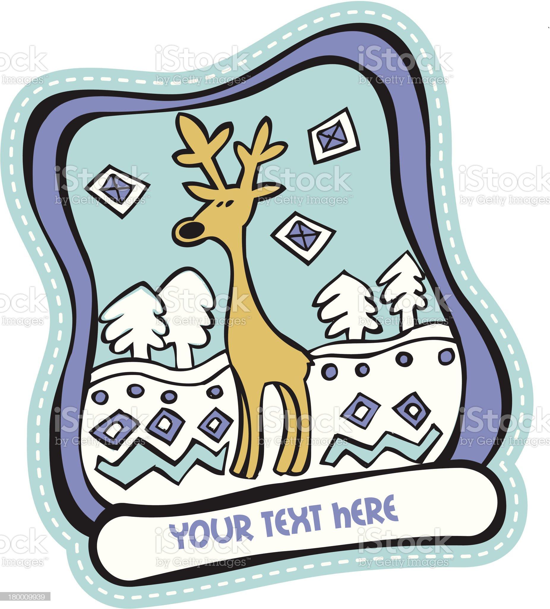 funny single deer royalty-free stock vector art