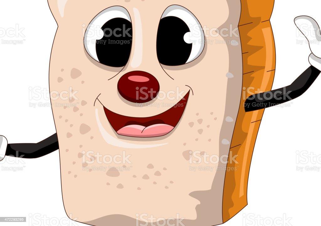 funny Slice of bread cartoon royalty-free stock vector art