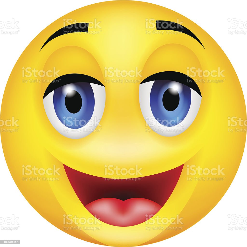 funny smile emotion royalty-free stock vector art