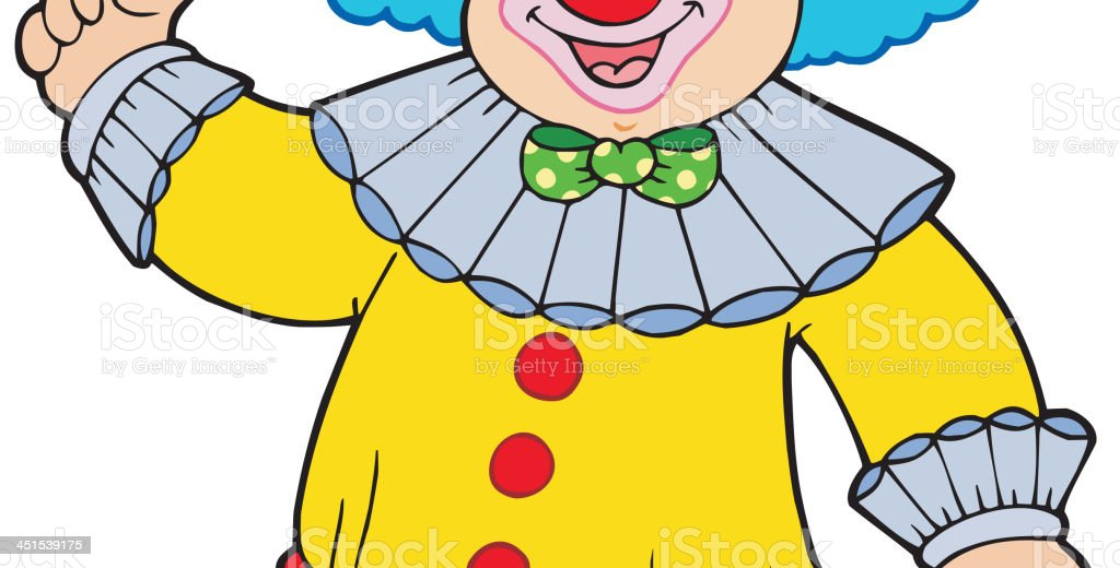 Funny smiling clown royalty-free stock vector art