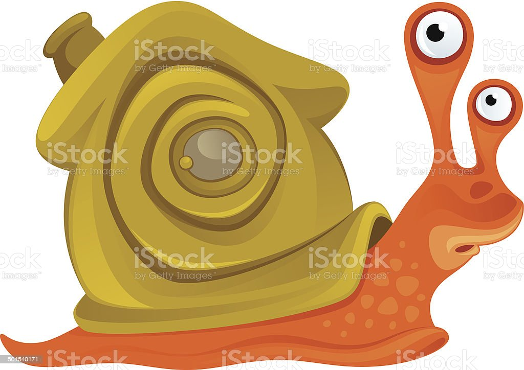 Funny snail royalty-free stock vector art