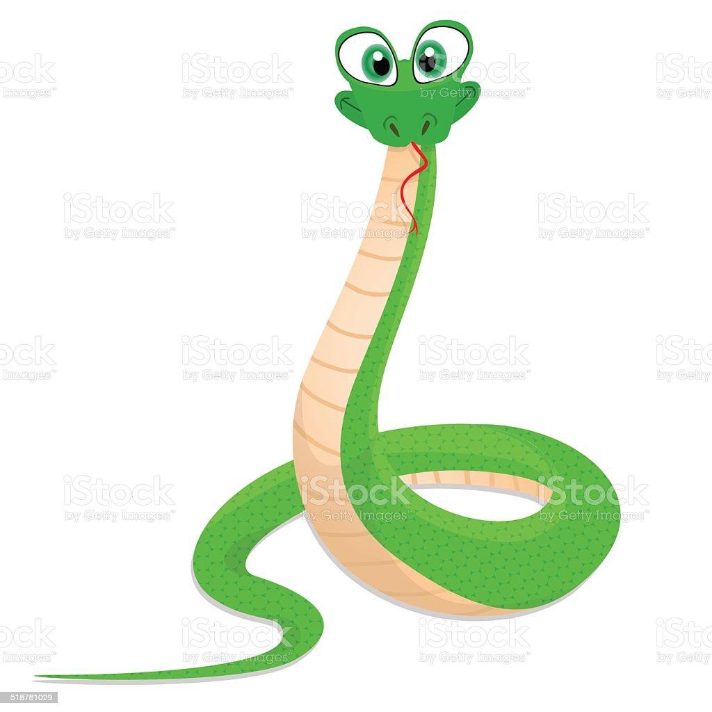 funny snake vector art illustration