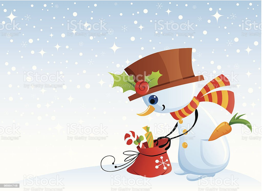 Funny snowman royalty-free stock vector art