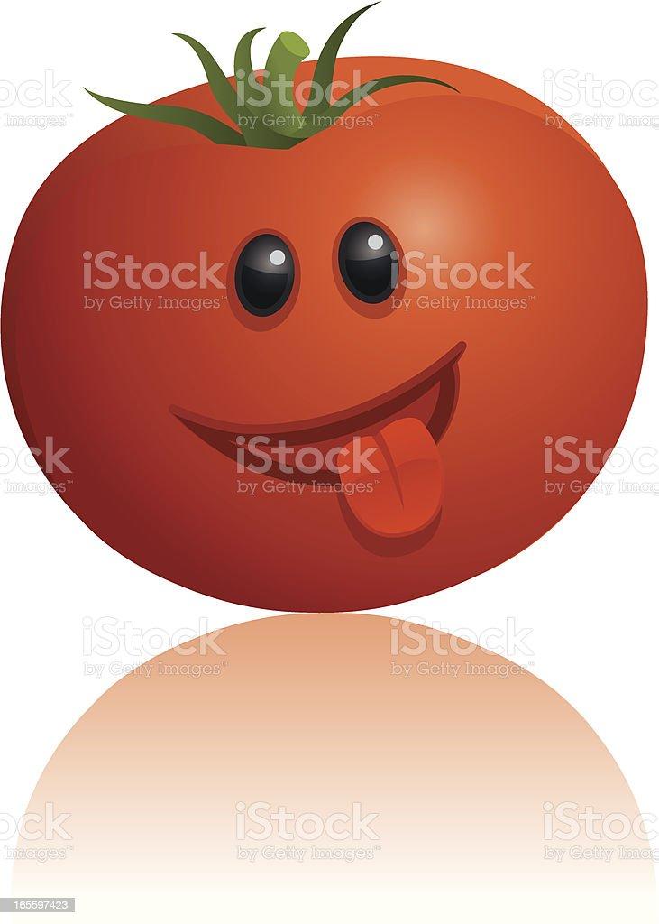 Funny Tomato royalty-free stock vector art
