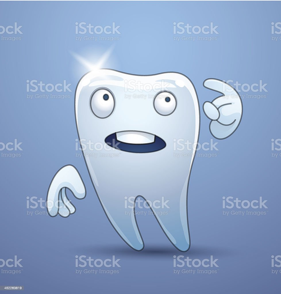 Funny tooth thought royalty-free stock vector art
