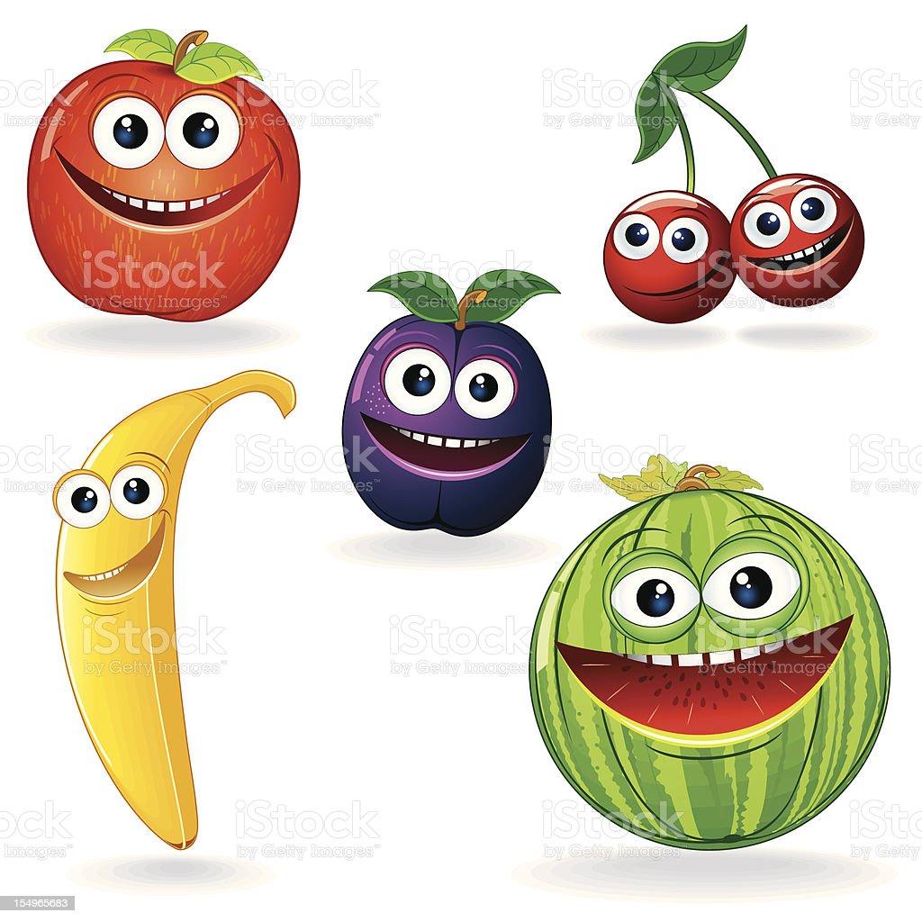 Funny Vector Fruits vector art illustration