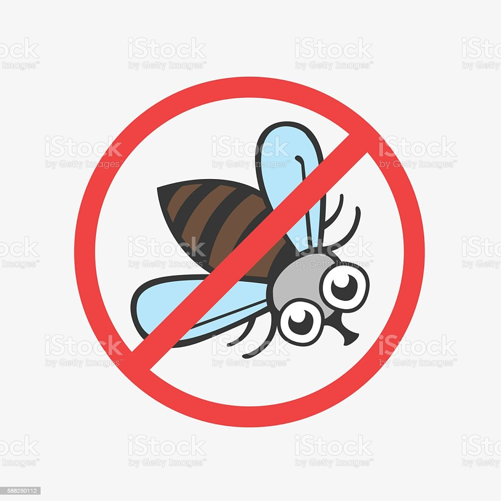 Funny vector icon fly. Flat Illustration for your design vector art illustration