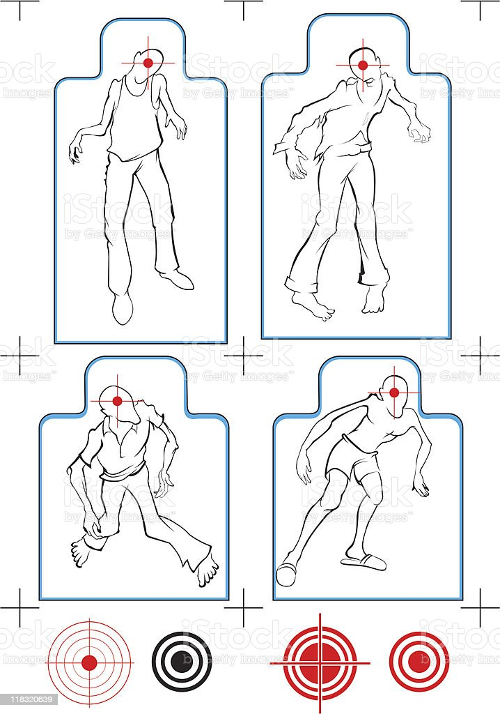 funny vector zombie target royalty-free stock vector art