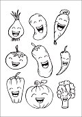 funny vegetable cartoon