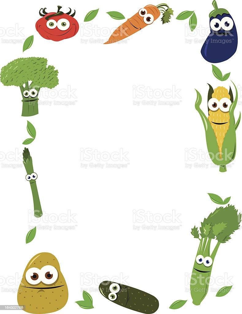 Funny Vegetables Frame royalty-free stock vector art