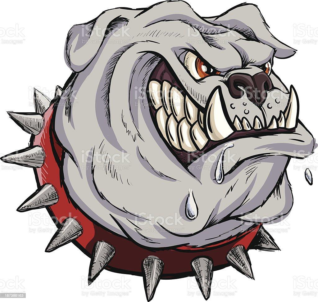 Furious bulldog vector art illustration