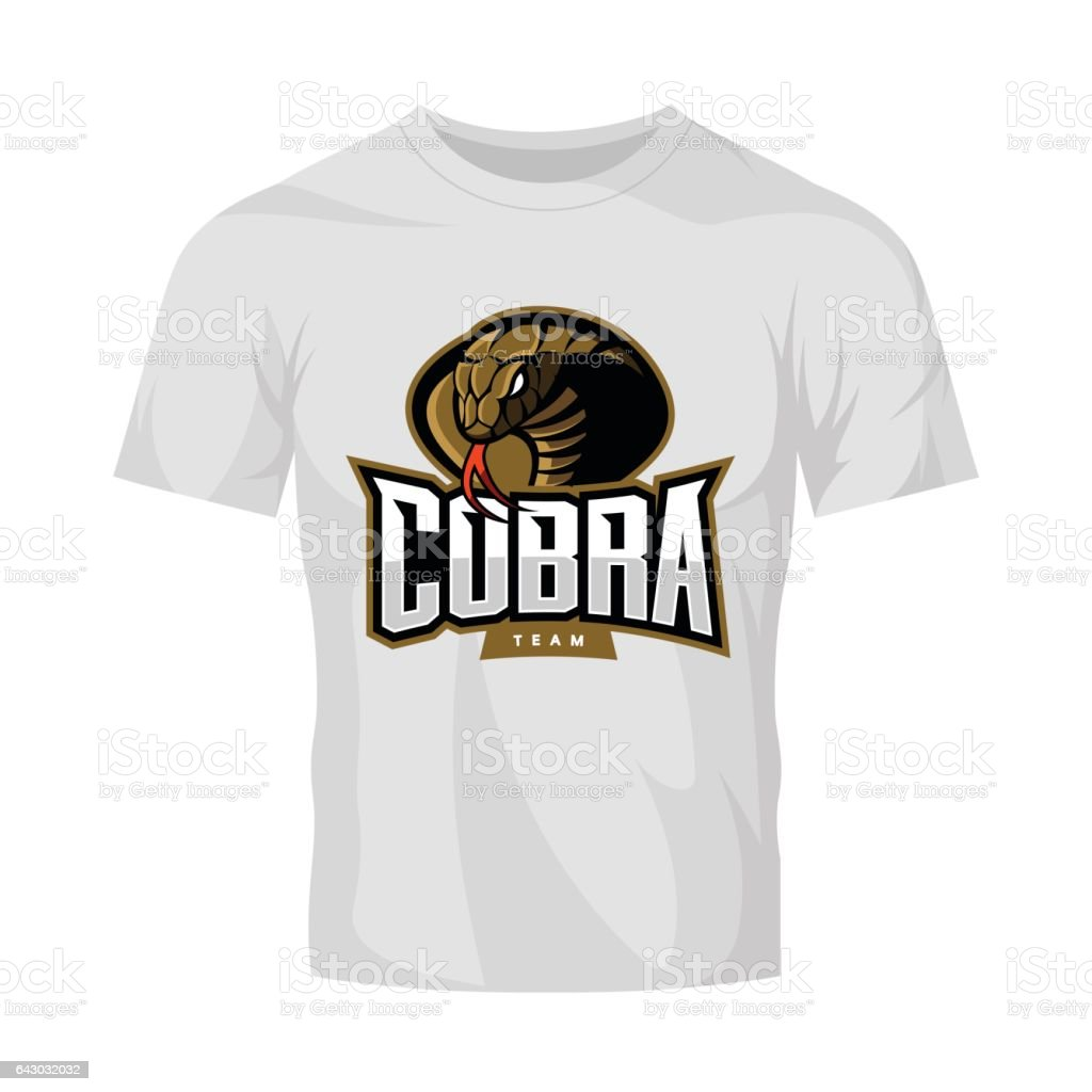 Scalable t shirt mockups more info - Furious Cobra Sport Vector Logo Concept Isolated On White T Shirt Mockup Royalty Free