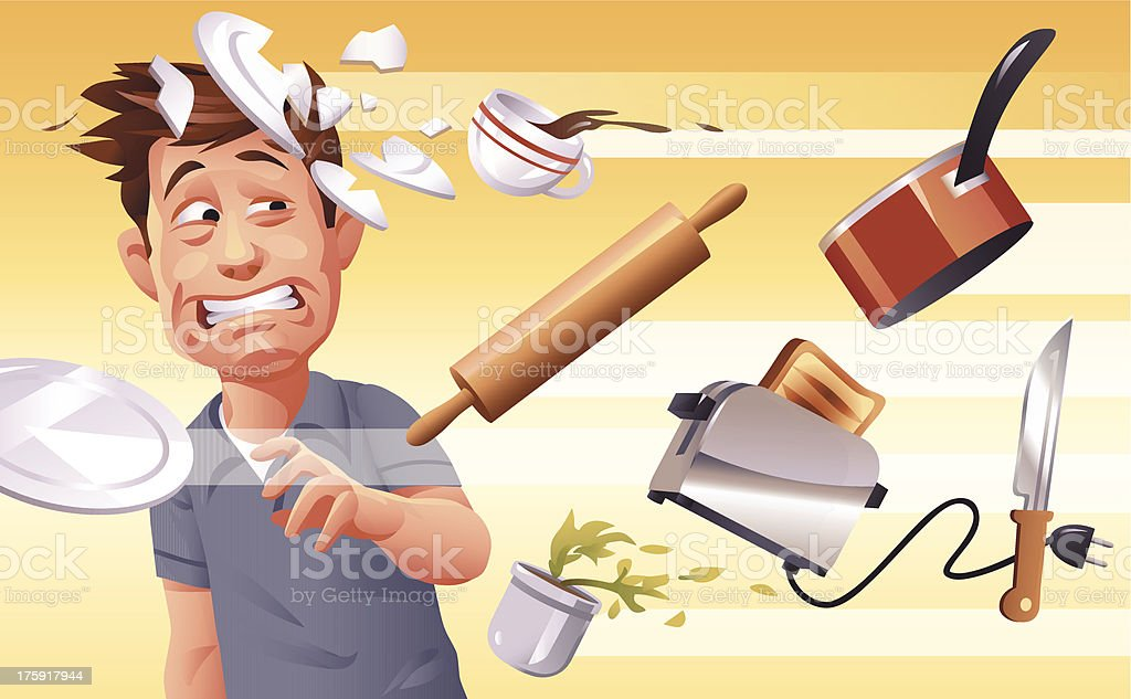 Furious Wife royalty-free stock vector art
