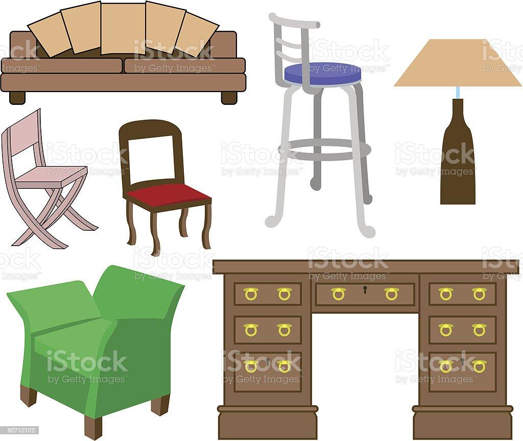 Furniture 2 royalty-free stock vector art
