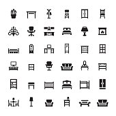 Furniture and Interior Features vector icons